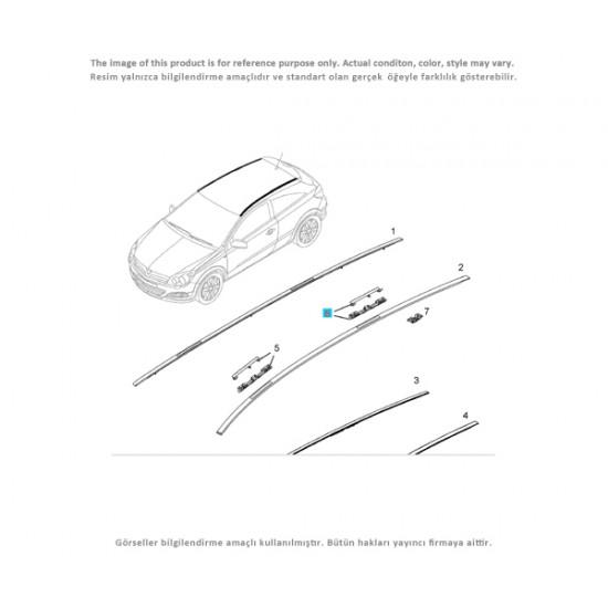Opel Astra H Tavan Çıta Oluk Kapağı Önler-Arkalar 4'lü Takım