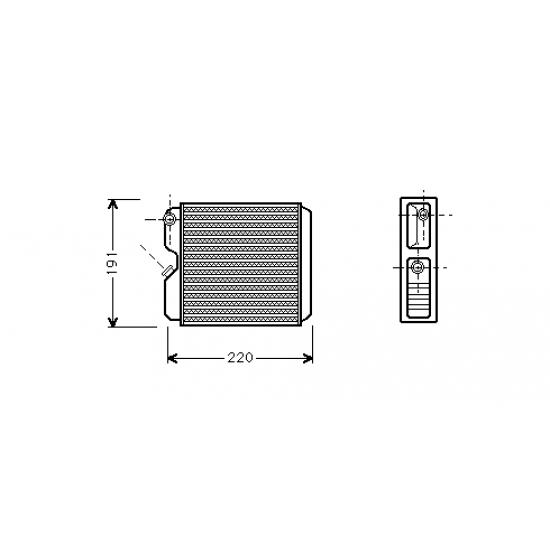 Opel Astra F Kalorifer Radyatörü Klimalı