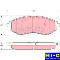 Chevrolet Kalos / Aveo Ön Fren Balatası Takım Hi-Q